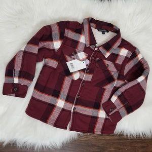 George|NWT Toddler Fleece Lined Plaid Jacket Coat